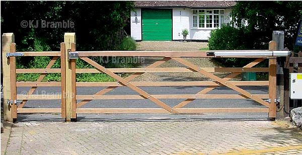 5 Bar Wooden Gates Automated Somerset