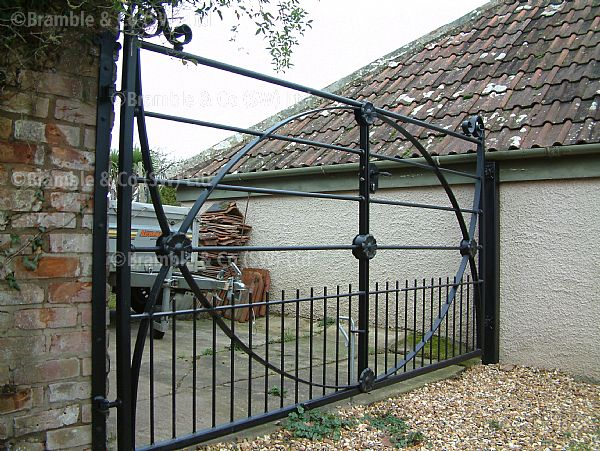Old Estate Gates Bridgwater Somerset