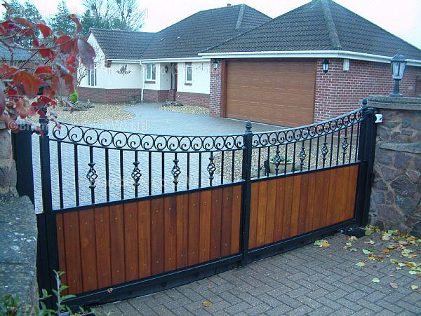 Iron Gates With Hardwood Flood Gates Somerset