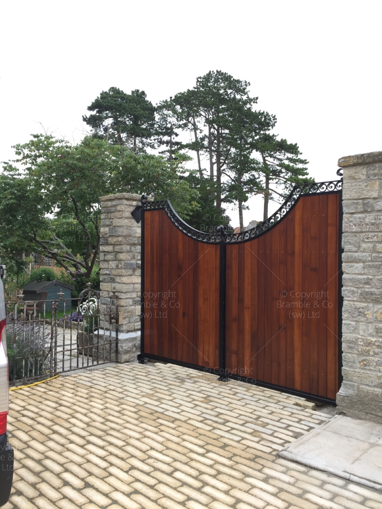 Large Wooden Gates, Langport, Somerset