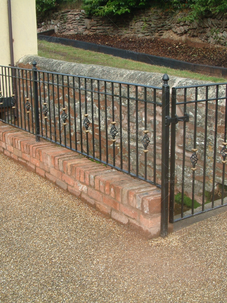 Simple railings with gate, North Newton, North Petherton.